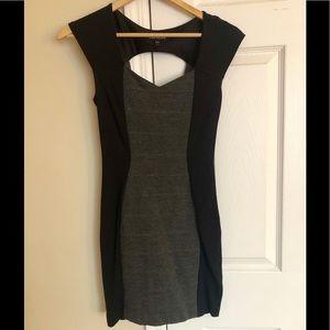 Express Black/ Gray Bodycon Dress